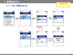 일반적인 UI 설계문서의 형식
