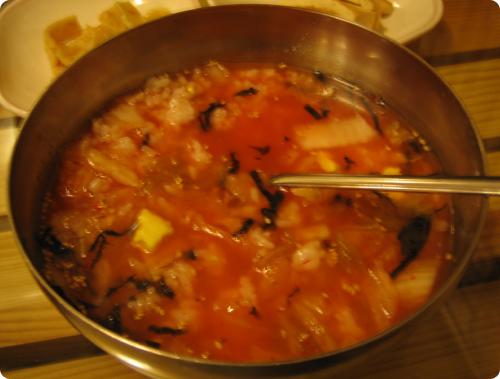 김치말이밥