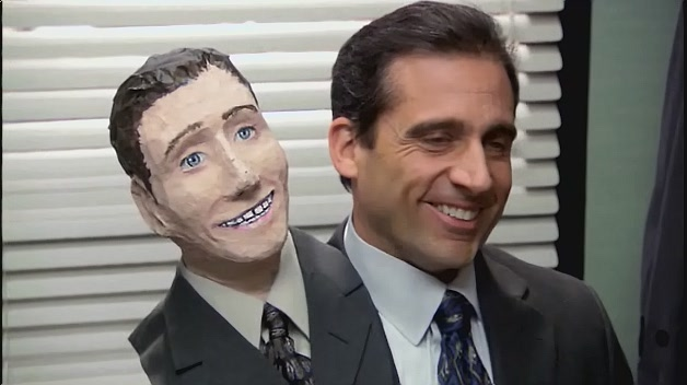 Michael as Two headed man