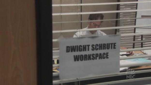 드와이트의 임시 작업실