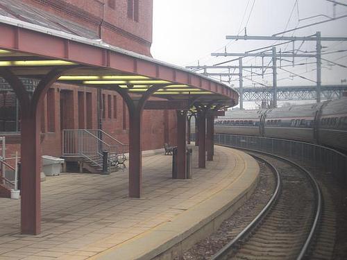 Estação de trem em New London, Connecticut.