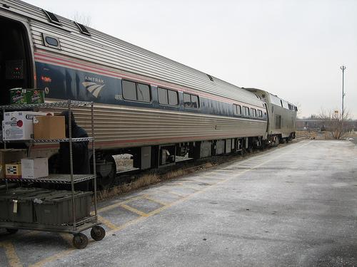 The train from Niagara Falls, Ontario to Buffalo Depew.