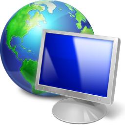 computer and globe