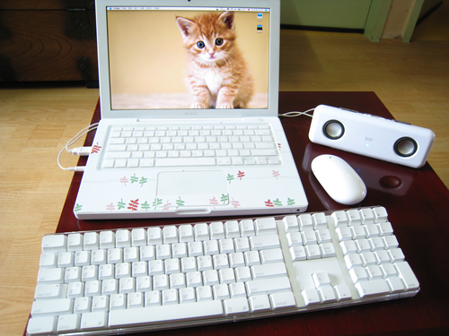 맥북 시트지 애플키보드 마이티 스피커
